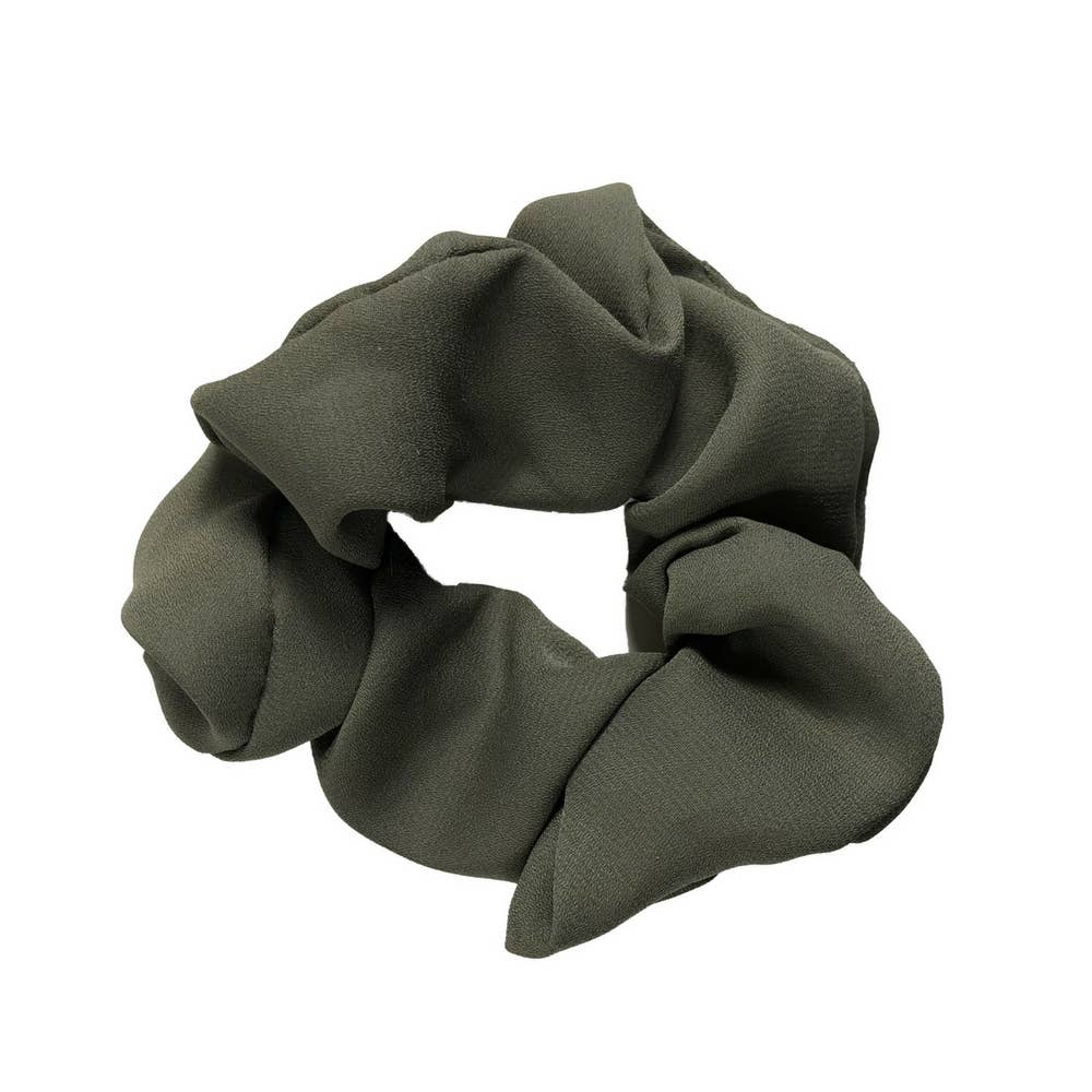 Headbands of Hope - Scrunchie Olive Solid