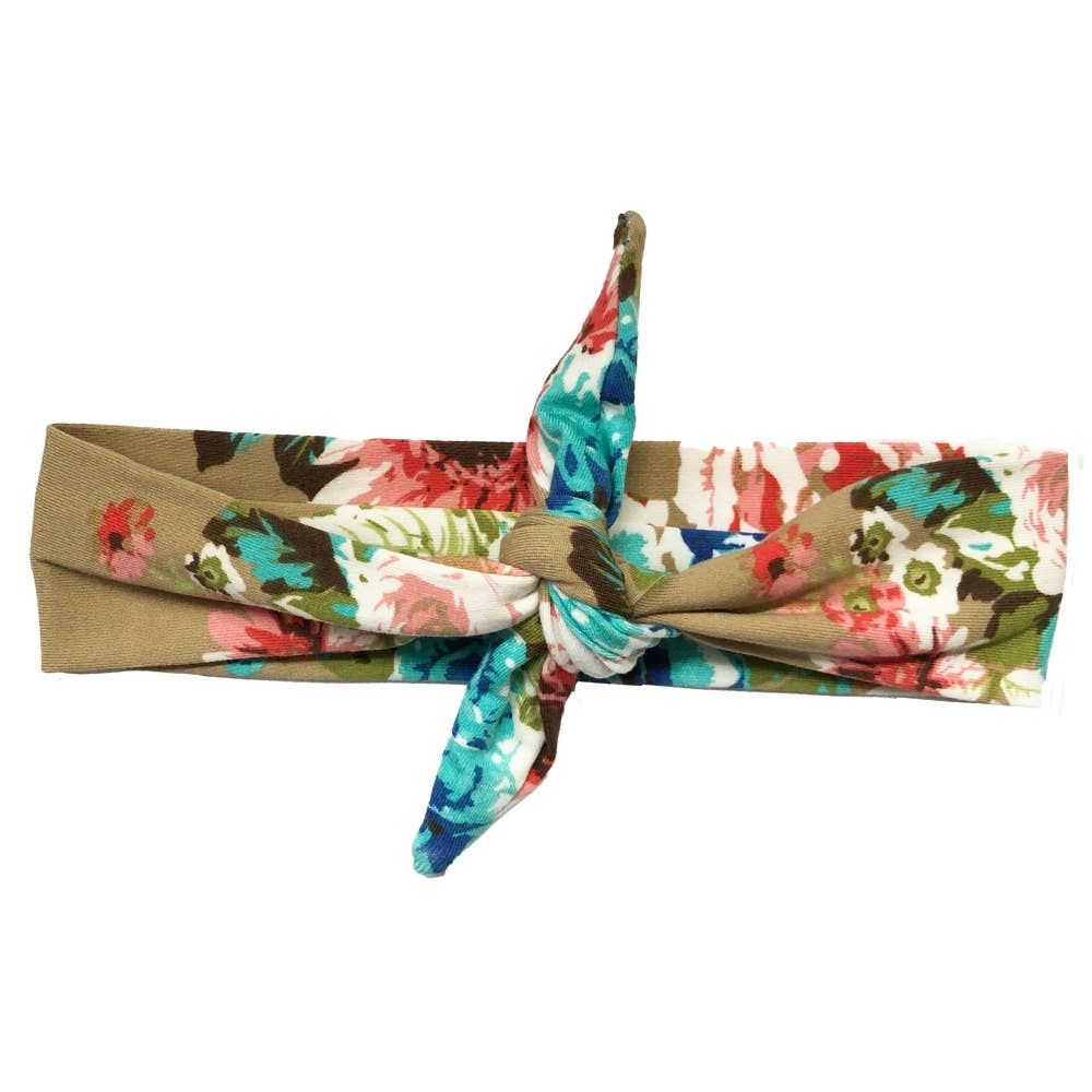 Headbands of Hope - Knotted Tan Floral