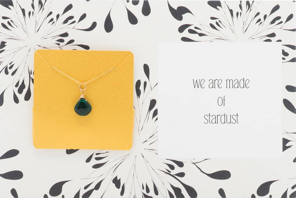 Ruthie and Olive | 3 meals donated for every necklace - We Are Made Of Stardust - Gemstone Necklace