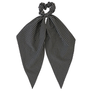 Headbands of Hope - Darling Scrunchie Black Polka