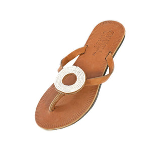 Swahili Coast - Ring White Sandal Size 7