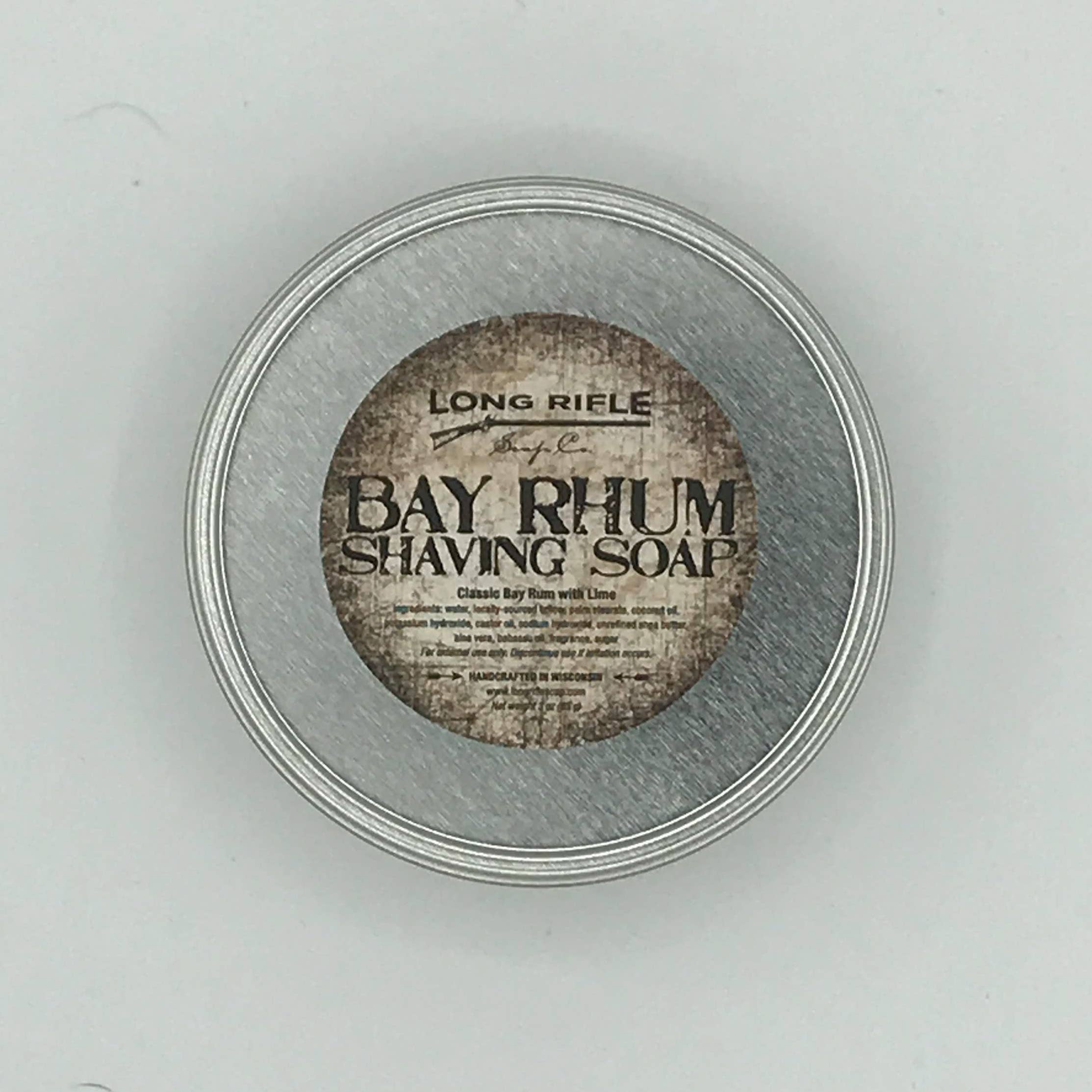 Long Rifle Soap Company - Shaving Puck - Bay Rhum - Men's Grooming