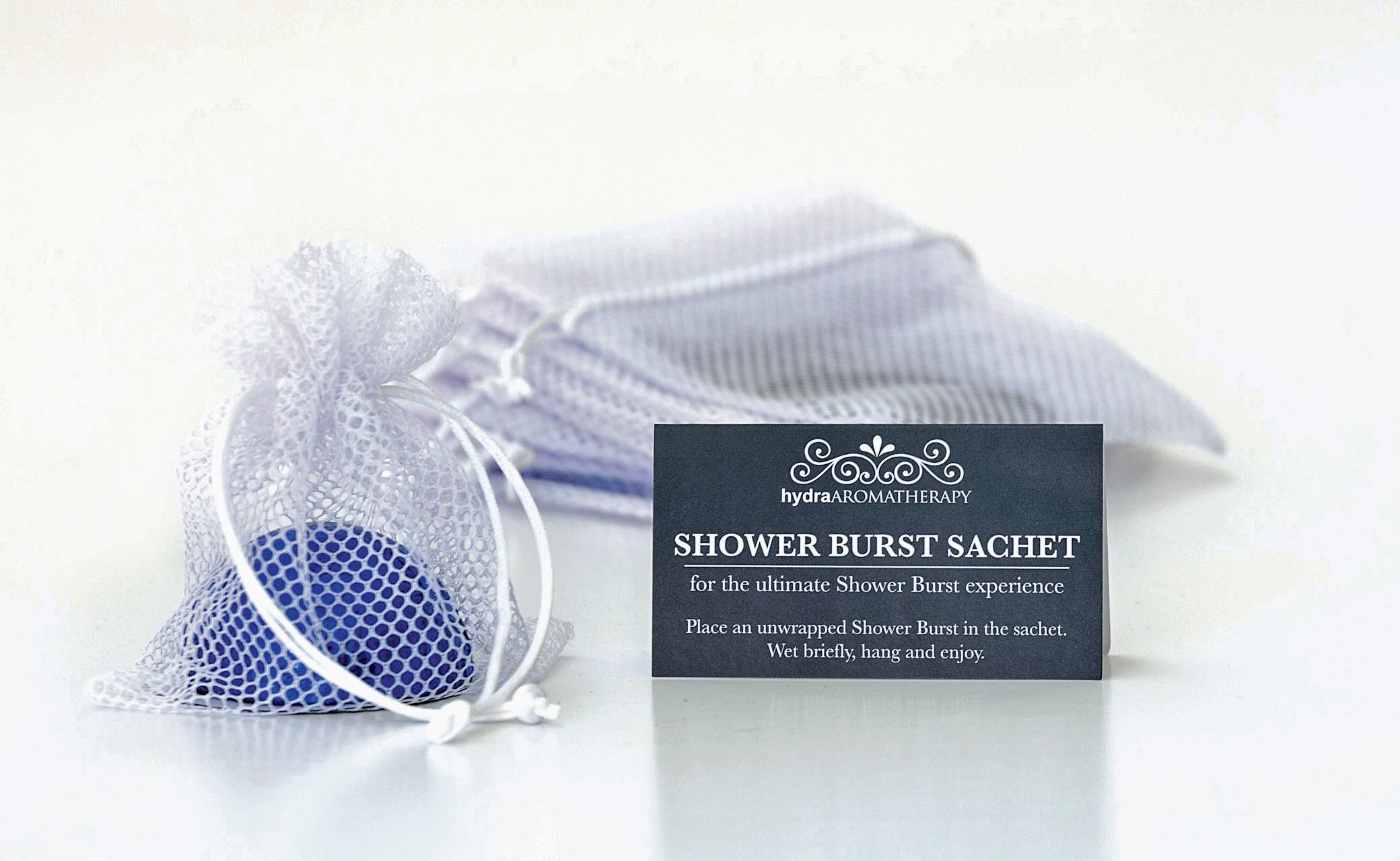 hydra Aromatherapy - White Sachet Shower Burst