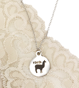 Buffalo Girls Salvage - Mama Llama Silver Laser Necklace - Jewelry Gifts For Her