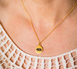 Buffalo Girls Salvage - Mama Bear Gold Laser Necklace