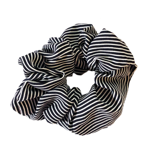 Headbands of Hope - Black & White Striped Scrunchie