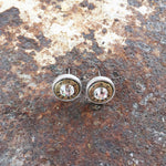 Buffalo Girls Salvage - Bullet Stud Earrings - silver, copper, gold