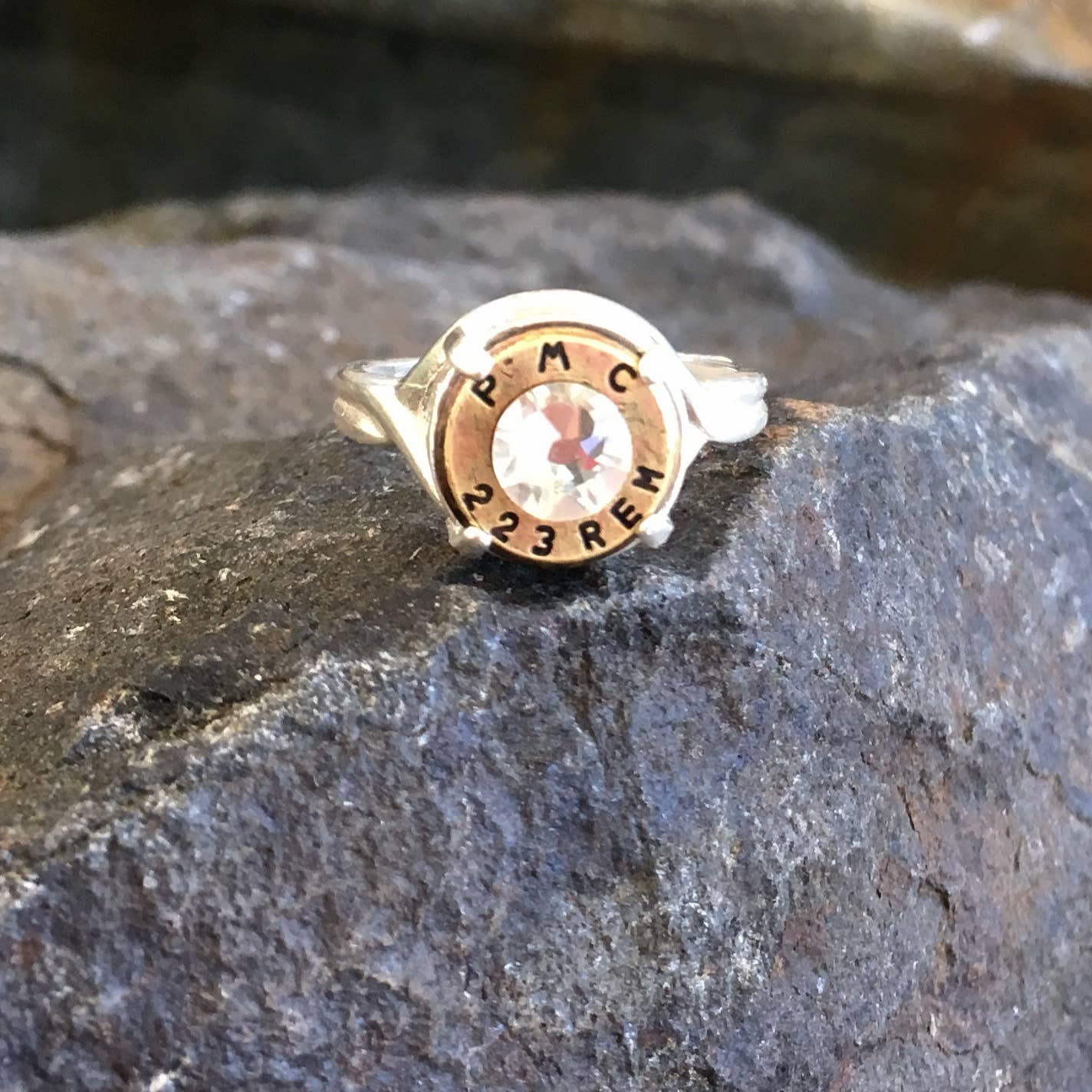 Buffalo Girls Salvage - Bullet Crown Ring - Silver or Bronze - Recycled Jewelry