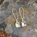 Buffalo Girls Salvage - Drop Crystal Earrings - Copper, Silver or Gold