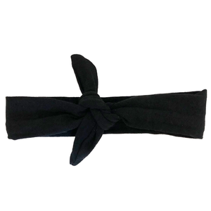 Headbands of Hope - Black Solid Knotted Headband