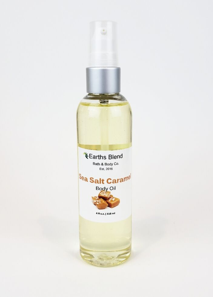 Earths Blend Bath & Body Co. - Sea Salt Caramel Body Oil