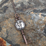 Buffalo Girls Salvage - Copper Soldered Cross Key Necklace