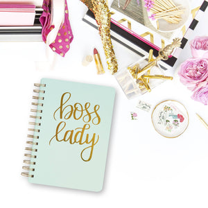Sweet Water Decor - Boss Lady Mint Spiral Notebook