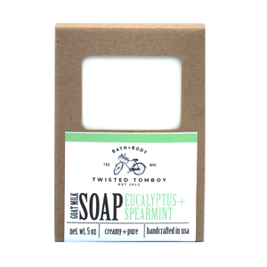 Twisted Tomboy | Eucalyptus + Spearmint Bath+Body - Handcrafted Goat Milk Soaps