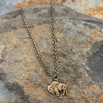 Buffalo Girls Salvage - RoAm My WaY Buffalo Bison Antique Bronze Necklace