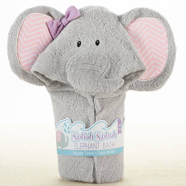 Baby Aspen - Splish Splash Elephant Bath Spa Hooded Towel