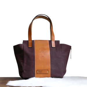 Le Papillon - Annais Brown Oiled Waxed Handbag