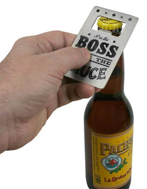 Trixie & Milo - Credit Card Bottle Opener - Boss with the Sauce
