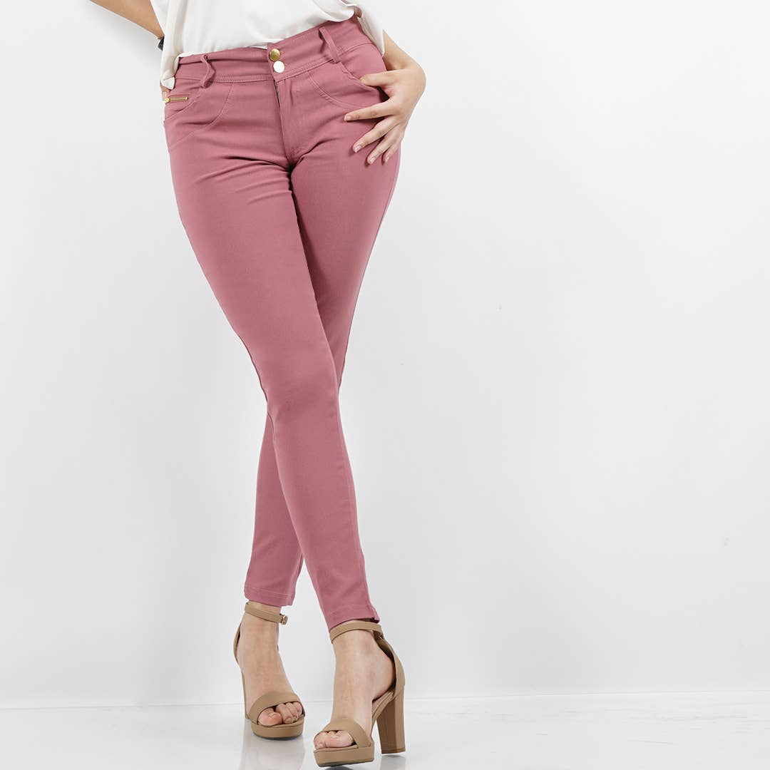 Mauve Super Stretch Twill Pants