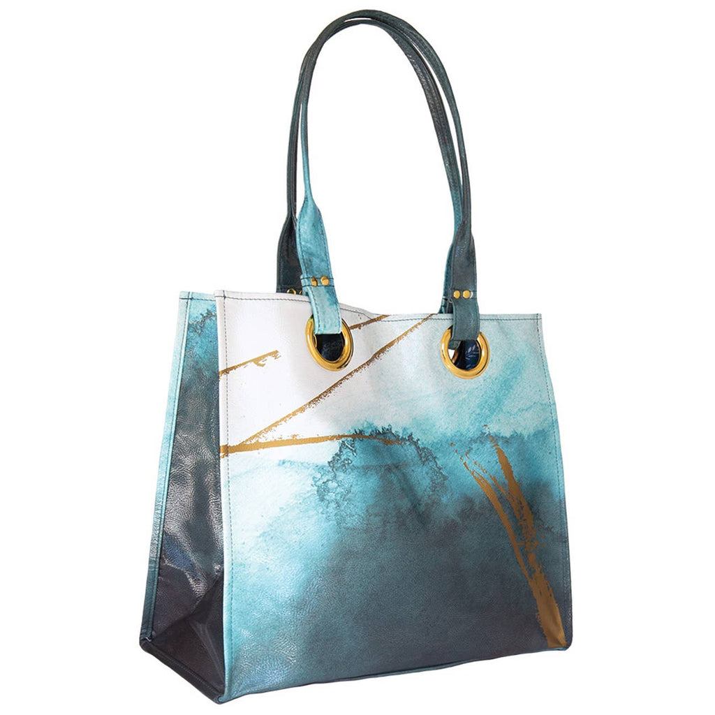 PAPAYA - Luxe Tote - Catalina Watercolor