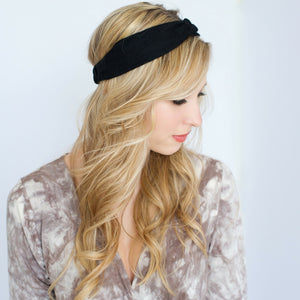 Headbands of Hope - Tube Turban Midnight Black