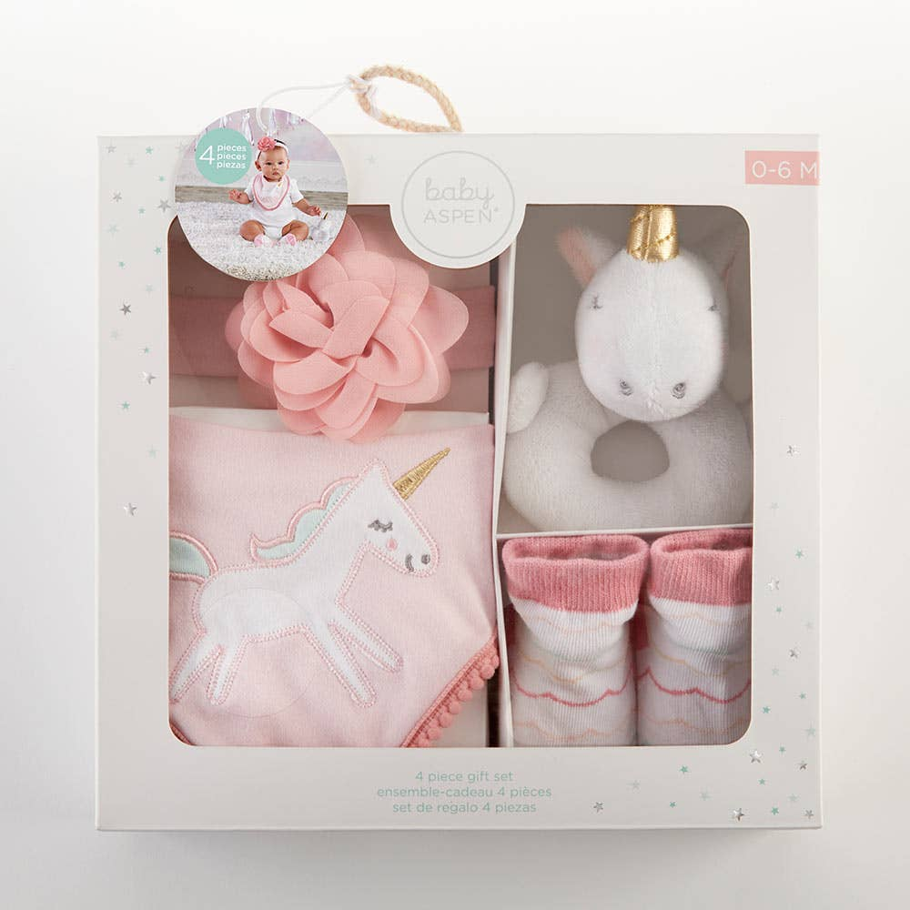 Baby Aspen - Simply Enchanted 4 Piece Gift Set