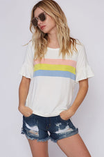 Pastel Striped Block Top