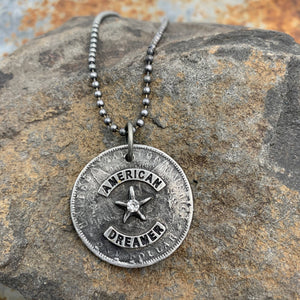 Buffalo Girls Salvage - American Dreamer Pewter Cross Pendant Necklace Jewelry