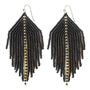 FOSTERIE - Raya Beaded Earrings Black