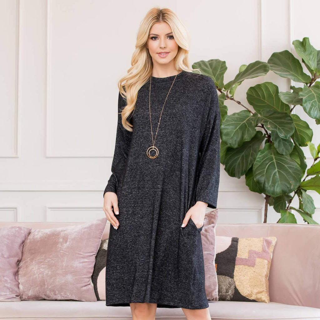 Riah - Lightweight Hacci Sweater Dress