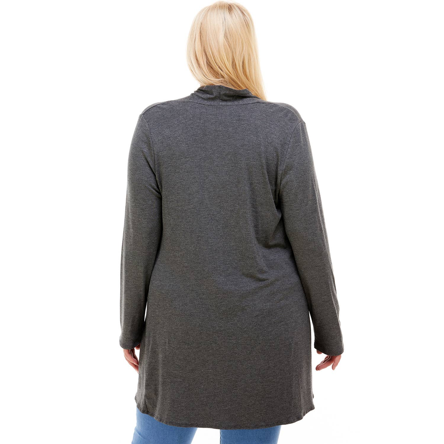 Charcoal Plus Size Cardigan