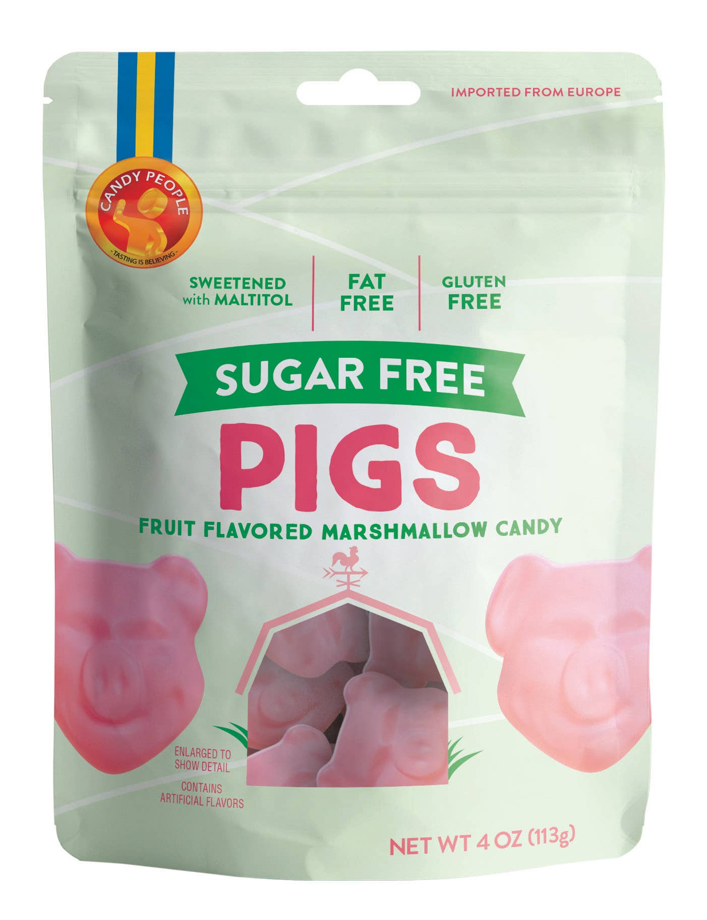 Candy People USA - Sugar Free Pigs Marshmallow Candy