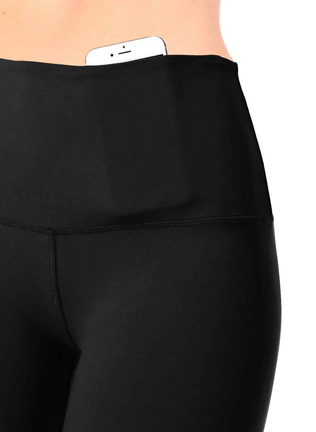 Black/Dark Grey Leggings with High Yoga Waistband