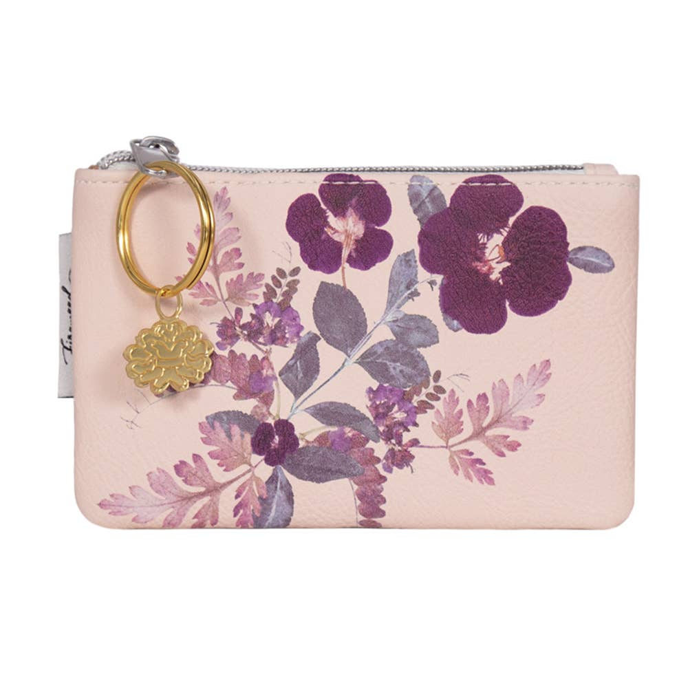 PAPAYA - Coin Purse- Plum Leaves