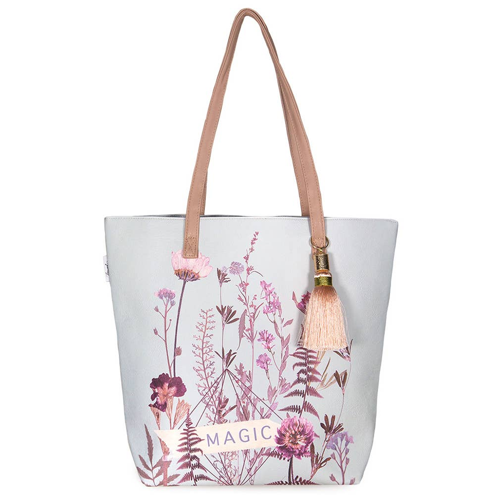 PAPAYA - Bucket Tote - Flower Bed