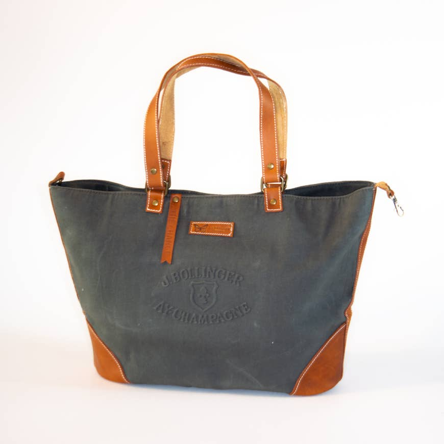 Le Papillon - Bollinger WAXED Canvas & genuine Leather handbag
