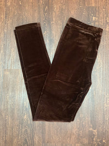 Brown Velour Leggings