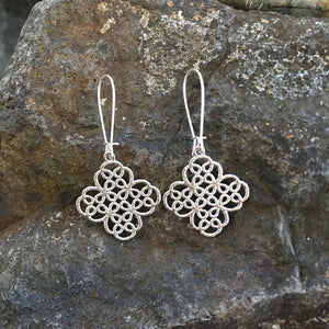 Buffalo Girls Salvage - Clover Filigree Lace Earrings