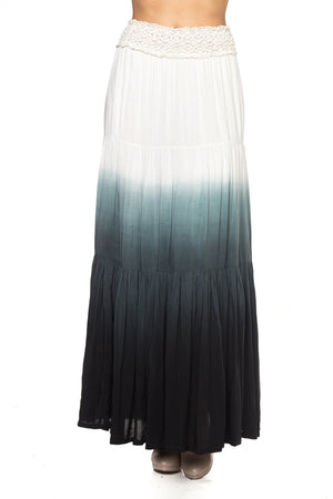 Crochet Waist with Dip Dye Designed Skirt