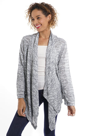 Draped Grey Cardigan