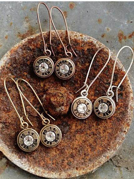 Buffalo Girls Salvage  - Bullet Drop Earrings