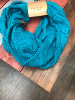 Teal CC Infinity Scarf