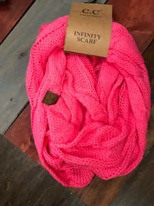 Candy Pink CC Infinity Scarf