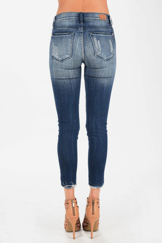 Judy Blue Ankle Fray Jeans