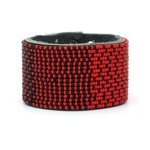 Swahili Coast -  Red & Black Ombre Collection