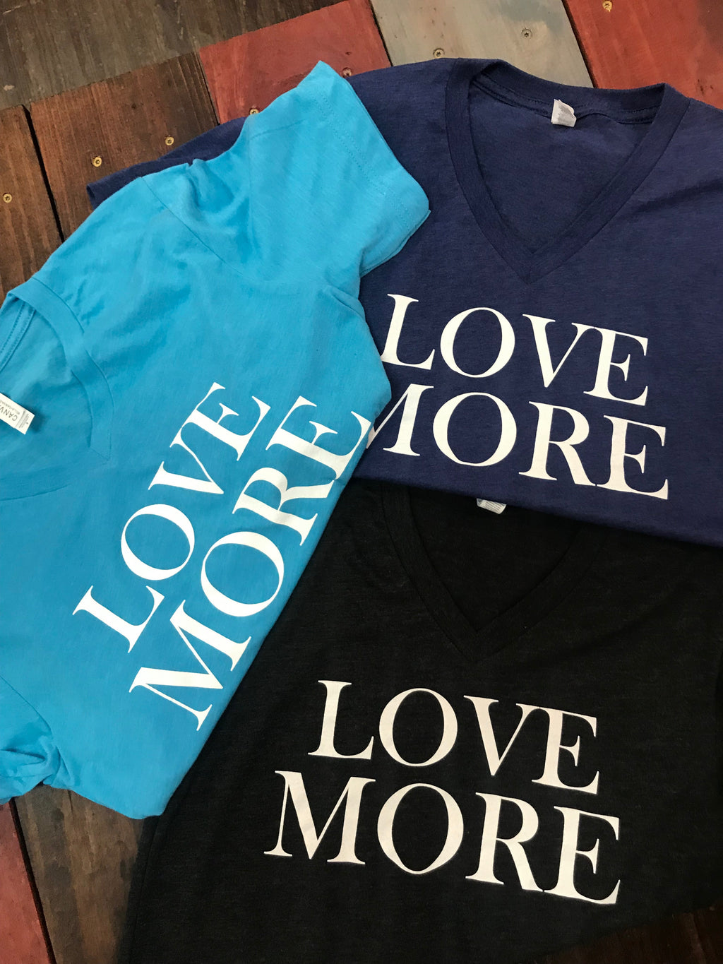 Love More Unisex V Neck