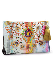 PAPAYA! - Moroccan Peacock Large Accessory Bag
