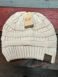 New Beige Original CC Beanie
