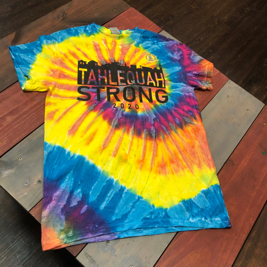 "Tahlequah Strong TIE DYE ""Pastel Ripple"" IN STOCK"