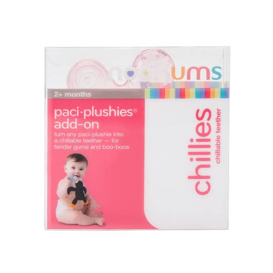 Nookums - Paci-Plushies Chillies -  Pink Teether